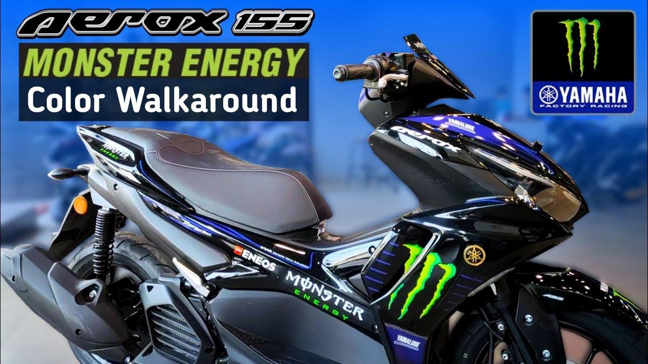 Yamaha Aerox 155 Monster Energy  Yamaha MotoGP Edition Color Walkaround  Scooter With Monster Energy