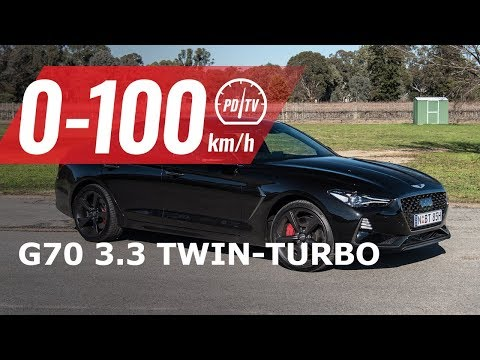 2019 Genesis G70 3.3T V6 0-100km/h & engine sound [short edit]