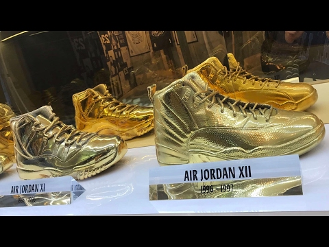 INSIDE THE AIR JORDAN ALL STAR STORE!! (EXCLUSIVE GOLD JORDANS)