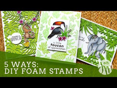5 WAYS: DIY Foam Stamps