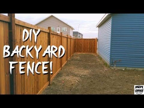 DIY Fence Build - Finally Built My Fence!
