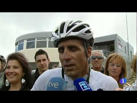 Indurain talks about Armstrong after finishing the queen stage of the Vuelta 2012