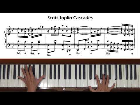 Scott Joplin Cascades Piano Tutorial