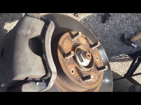 How to replace the front brake Hardware on a lincoln mkz and zephyr