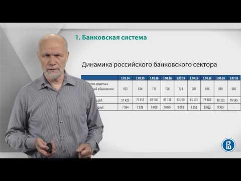 Курс лекций «Банковские услуги и отношение людей с банками». Лекция 1: Банковская система