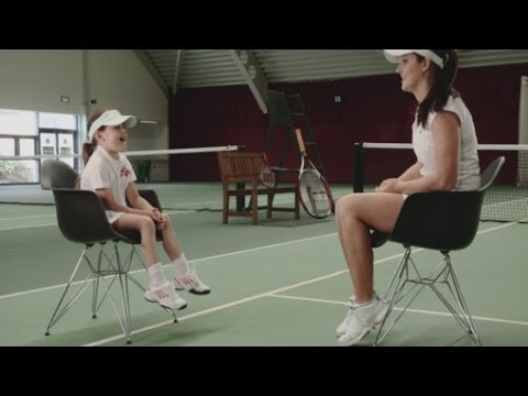 Cutest interview ever? Six-year-old interviews tennis star Laura Robson
