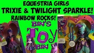 Rainbow Rocks Trixie Lulamoon & Twilight Sparkle Equestria Girls Review! By Bin's Toy Bin