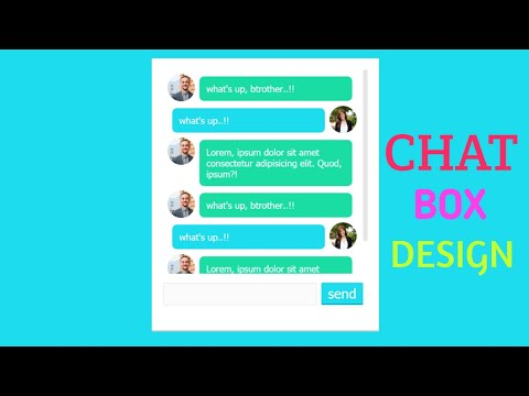How To Create Chat Box Using HTML And CSS