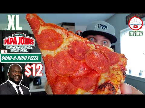 Papa John's® SHAQ-A-RONI PIZZA Review! 🍕😲