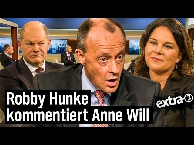Robby Hunke kommentiert Anne Will | NDR