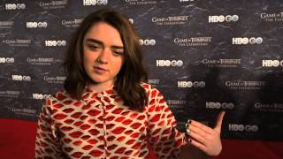 Game of Thrones Season 4: Maisie Williams Remembers the Fallen (HBO)