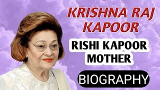 Krishna Raj Kapoor Biography | Rajiv Kapoor Mother,Name,Interview,Family,Songs,Lifestyle,Life Story