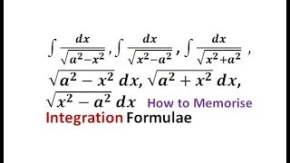 How to learn integration formulas fast || Tricks to learn Integration Formulas| Memorise integration