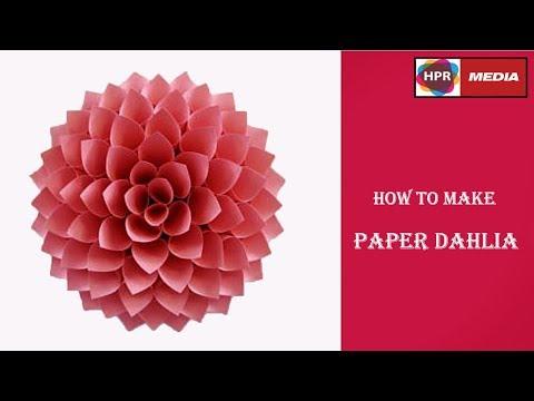 How to Make  Paper Dahlia Tutorial | Wedding Backdrop Flowers