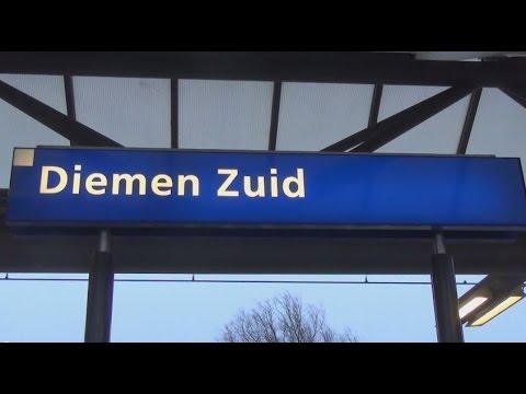 Treinen op Station Diemen Zuid - 3 januari 2015