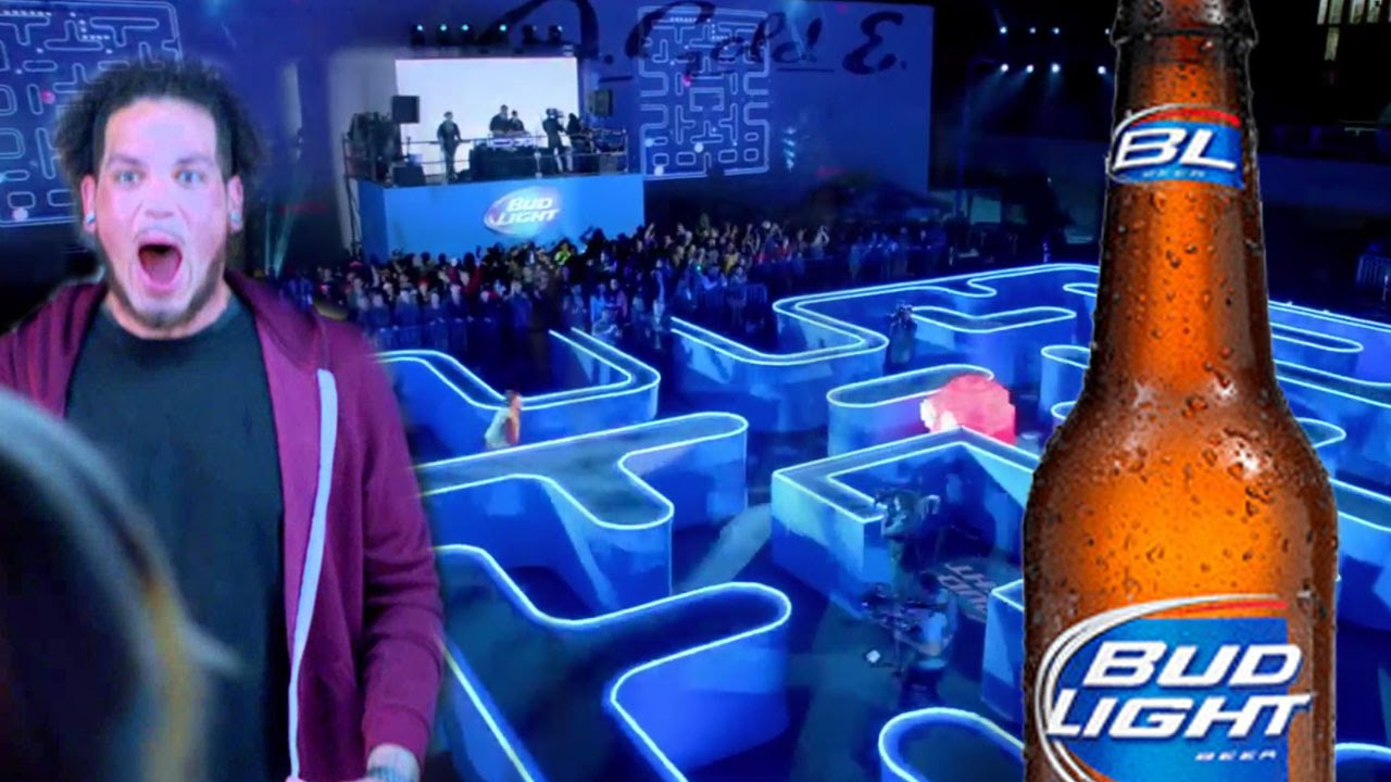 Bud Light Super Bowl XLIX Commercial  Real Life Packman Pictures Gallery
