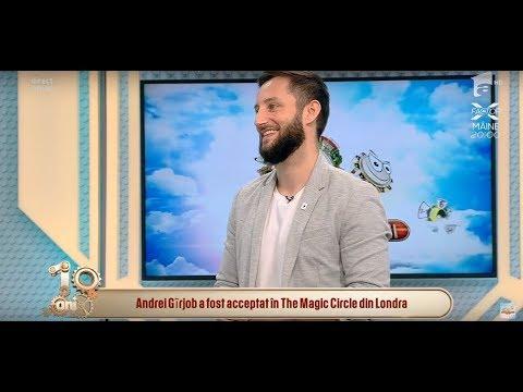 Andrei Gîrjob face cel mai tare truc cu cărți! Magicianul a fost acceptat în