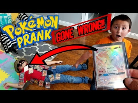 SECRET RARE CHARIZARD SCARE PRANK ON CARL!! POKEMON CARD PRANK GONE WRONG!! *CARL DIED!?*