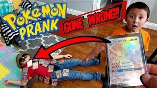 SECRET RARE CHARIZARD SCARE PRANK ON CARL!! POKEMON CARD PRANK GONE WRONG!! *CARL DIED!?*
