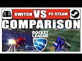 [Rocket League] COMPARiSON | Switch VS. PC Steam