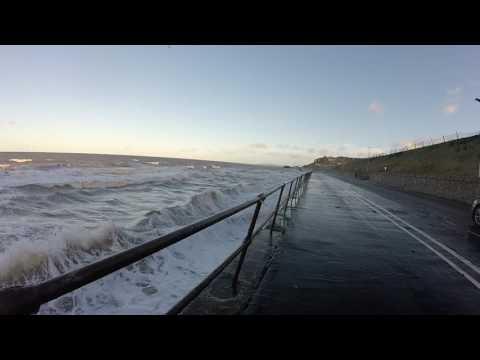 Colwyn bay, Rough sea, New year's day 2017