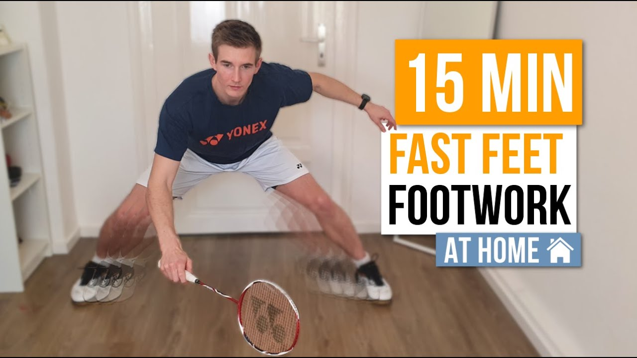 15 Min Fast Footwork Session | Badminton At Home