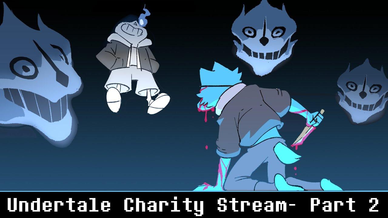 Eyepatch Wolf Undertale Charity Stream Part 2  - No Mercy Run