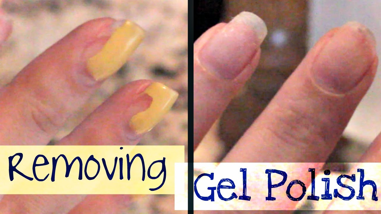 Nail Tutorial | How to Remove Gel Nail Polish AT HOME! - YouTube