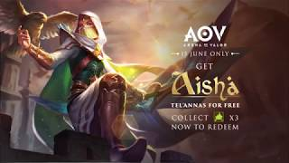 Garena Arena of Valor - Skin Spotlight - Aisha Tel'Annas