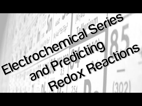 Electrochemical series and predicting redox reactions