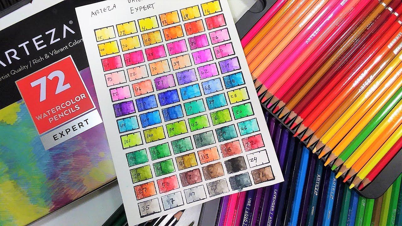 Worth the money? Arteza Watercolor Pencil Review - YouTube