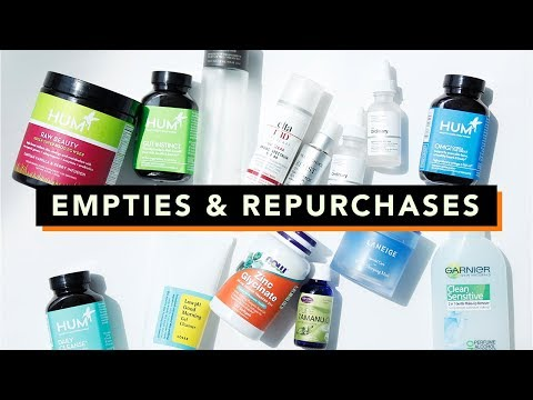 Skincare Empties & Repurchases • Skincare Favorites & Beauty Supplements