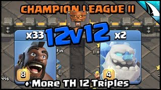 *CWL 12v12 TRIPLES* Ice Golem and Hogs + More 12v12 Replays | Clash of Clans