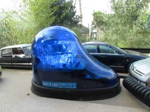 gyrophare gdo r led goutte d 39 eau bleu doovi. Black Bedroom Furniture Sets. Home Design Ideas