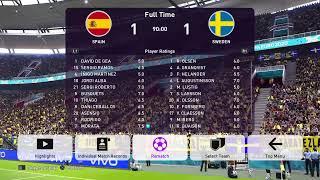 Match 10 - Spain vs Sweden (Group E)