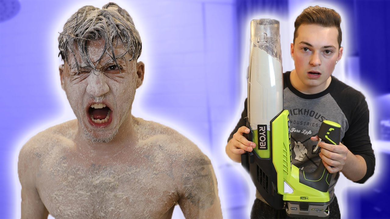 the-best-flour-prank-ever-leaf-blower-flour