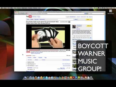Boycott Warner Music Group and other record labels