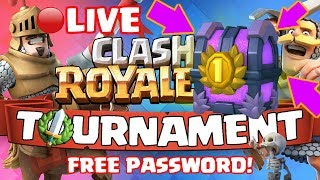 Clash Royale - FREE TOURNAMENTS! FREE PASSWORDS! + 2V2's!