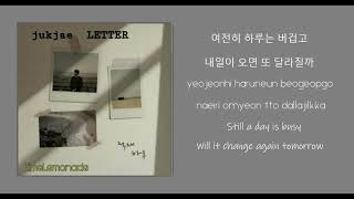 JUKJAE (적재) _ LETTER (잘 지내)  - lyrics video (Han/ Rom /Eng)