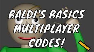 ROBLOX - 📏 Baldi's Basics Multiplayer 📏 [Beta] | ALL CODES!