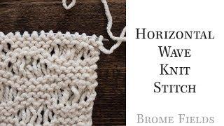 Horizontal Wave Knit Stitch