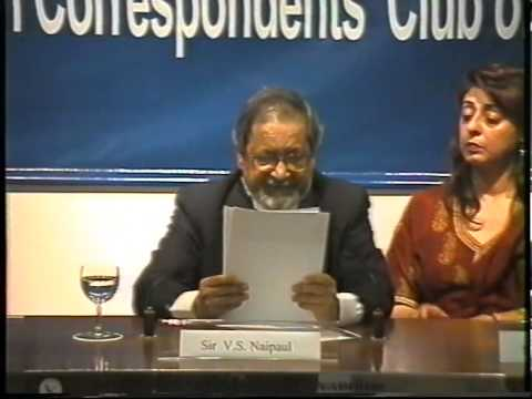 Sir VS Naipaul at the FCCT facilitated by the International Peace Foundation