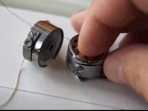 Как вставлять шпульку в швейную машинку