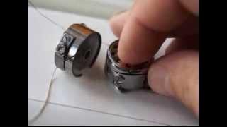Как правильно заправить шпульку. Натяжение. Шаг   3 Ремонт швейной машинки
