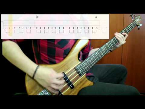 Foo Fighters - Everlong (Bass Cover) (Play Along Tabs In Video)