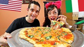 NYC's BEST Pizza?😮 First Timers React to Di Fara in Brooklyn! (w/an Italian Girl)