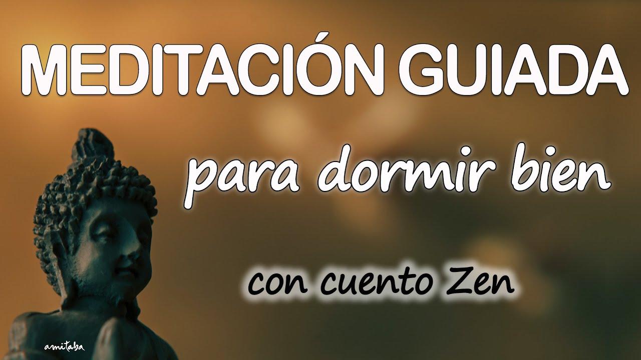 Meditación GUIADA para DORMIR BIEN con CUENTO BUDISTA ZEN | RELAJACION GUIADA | Mindfulness AMITABA🧡