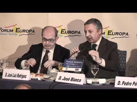 Fórum Europa. Tribuna Galicia con José Blanco