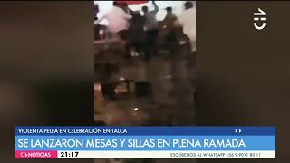 Pelea en fonda de talca chile 2018  1080 p