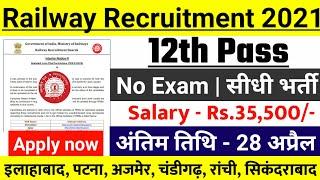 RAILWAY RECRUITMENT 2021 | rrb new vacancy, new vacancy 2021 | railway vacancy, ntpc, group d exam